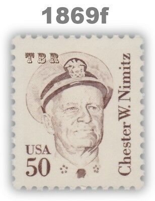 1869f Chester Nimitz 50c New Listing Large Block Tag Great Americans MNH Buy Now