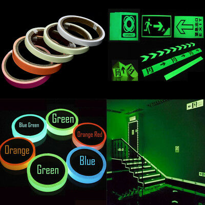 Luminous Glow In The Dark Fluorescent Night Self-adhesive Safety Sticker Tape JP