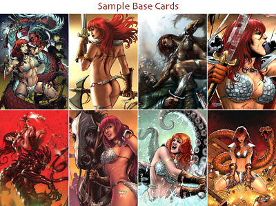 Red Sonja Trading Cards ~ COMPLETE 72-CARD BASE SET