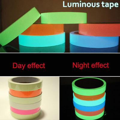 Luminous Tape Wall Sticker DIY Glow in the Dark Warning Tapes Night Light Decals
