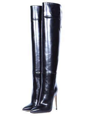 Womens Pointed Toe Stretch Thigh Knee High Boots Club High Stilettos Heels Shoes