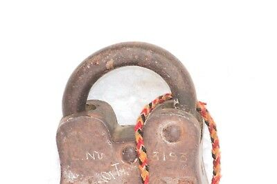 Old Antique Rare Iron Brass Vintage Lock and New Key Collectible S-10