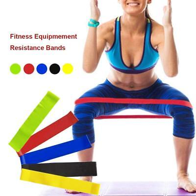 Resistance Loop Bands Set of 5 Exercise Workout Bands for Legs Butt Glutes Yoga.