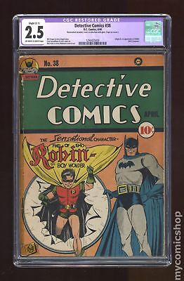 Detective Comics (1st Series) #38 1940 CGC 2.5 RESTORED 1290425009