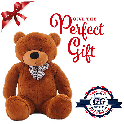 Giant Teddy Bear Plush Stuffed Big Animal Toys Valentine Kids Birthday Gift 55""