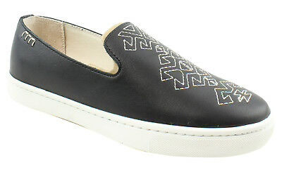 New Soludos Womens Slip On Sneaker Black Loafers Size 6