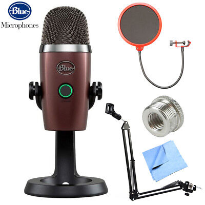 BLUE MICROPHONES Yeti Nano Premium USB Microphone (0496) + Accessories Bundle