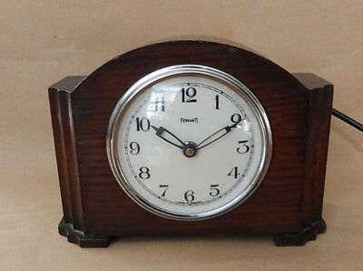 Fine Ferranti Art Deco Electric Mantel Clock Fully working   2899