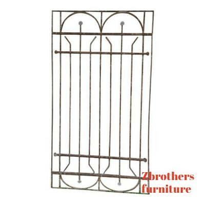 Antique Victorian Iron Gate Window Garden Fence Architectural Salvage Door #65