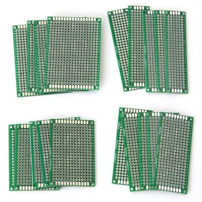 5-20Pcs Double-Side Prototype PCB Stripboard Universal Printed Circuit Board ZX