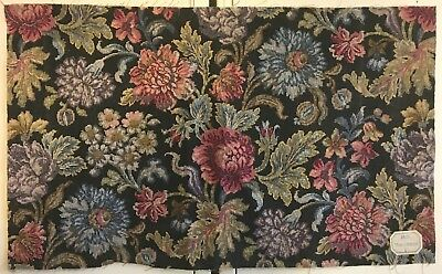Beautiful 1930's French Linen Exotic Floral Printed Fabric  (2524)