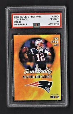 2000/00 Tom Brady Rookie Phenoms Gold Graded 10 New England Patriots RC Card Hot