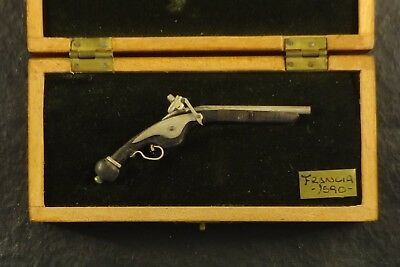 Antique Miniature Gun Scale 1590 Detailed Handmade Wood & Metal Crafted By Ruiz