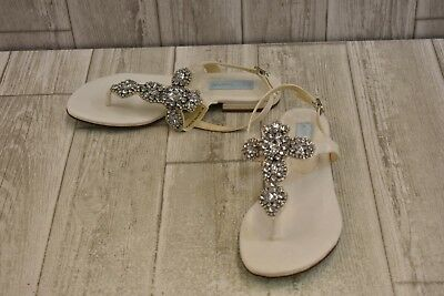 24775c2ff7ed29 BLUE BY BETSEY Johnson Women s Amy Bridal Flip-Flops Size 6 Blue ...