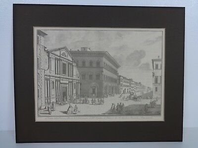 Giuseppe Zocchi 18th Century Artist Graphic Print Church Medical Buildings Italy