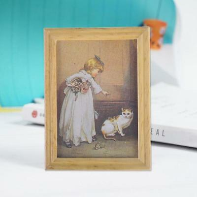 New 1:12 Dollhouse Miniature Framed Wall Painting Home Decor Room Items DECO