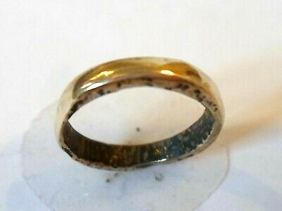 X-MAS SALE(SIZE A-1/2)DETECTOR FIND 13th-15th CEN MEDIEVAL WEDDING RING.POLISHED