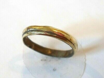 DETECTOR FIND & POLISHED (SIZE B) 13th-15th CENTURY MEDIEVAL BRONZE RING
