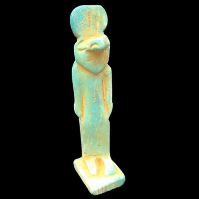 Beautiful Ancient Egyptian Blue Amulet 300 Bc (5)