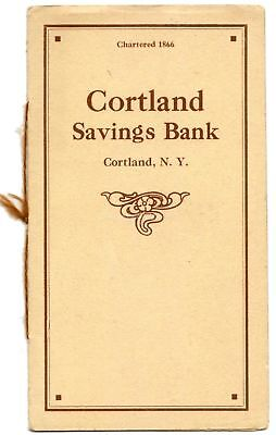 Cortland Savings Bank NY 1919 Vintage Booklet New York Banking