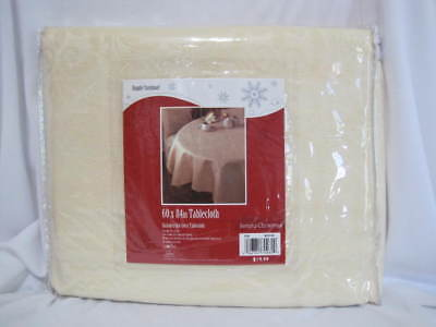 Simply Christmas Cream Color Tablecloth 60 x 84 Sears