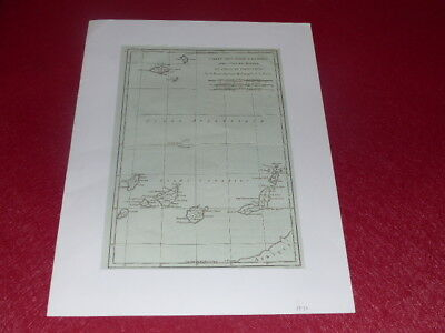 Carte Geographique Xviiie Rigbonne Iles Canaries Madere