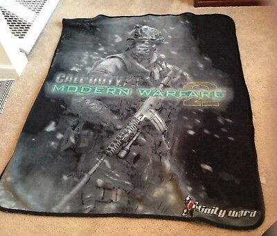 call of duty video game blanket throw
