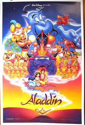 Aladdin - original DS movie poster - D/S 27x41 Disney Animation