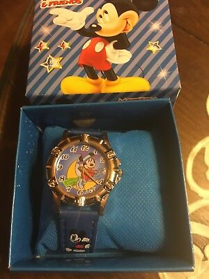 MICKEY MOUSE  WRIST WATCH NEW WITH COLLECTORS BOX new