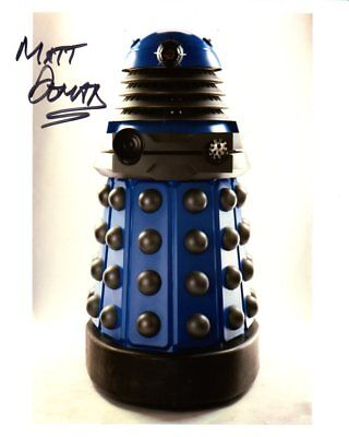 doctor who autograph matt doman blue dalek signed photo 15 00