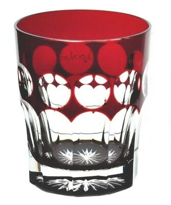 1 Faberge Na Zdorovye Ruby Red Cut to Clear Cased Crystal DOF Whisky Rocks