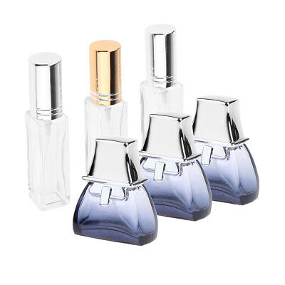 6x Travel Glass Perfume Aftershave Atomiser Bottle Pump Refillable Container