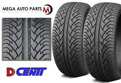 2 New Dcenti D9000 295/25R22 97W Performance Tires