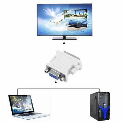 DVI to VGA SVGA Converter Adapter DVI-I Dual Link 24+5 pin Male to 15 Female