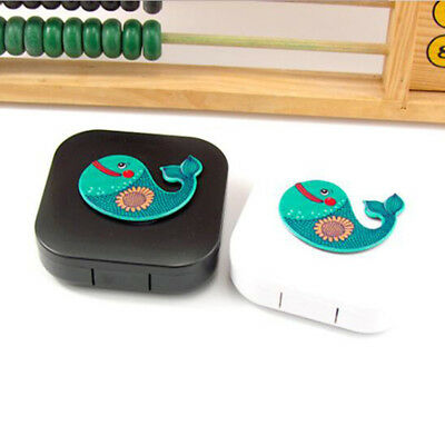 Pocket Cartoon Contact Lens Case Kit Outdoor Travel Holder Mirror Container LG