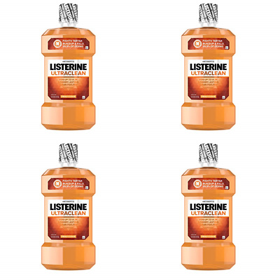 Listerine Ultraclean Oral Care Antiseptic Mouthwash with Everfresh (Pack of 4)