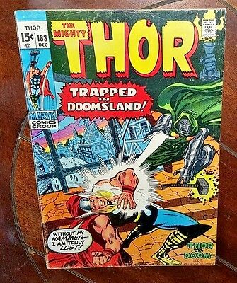 The Mighty Thor #183, (1970, Marvel): Trapped in Doomsland!