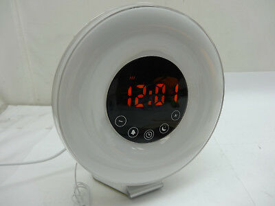 Sunrise Alarm Clock FM Radio Wake Up Sunset Simulation Digital Sounds Therapy
