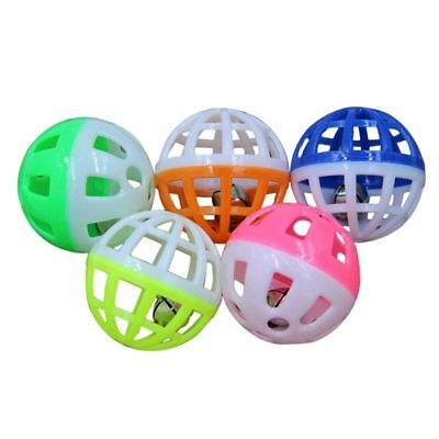 3X(18Pcs Pet Dog Cat Puppy Jingle Bell Ring Ball Round Roll Fetch Play Chew T L5