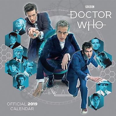 Brand New Official 2019 Square Wall Calendar - Doctor Who Classic Edition