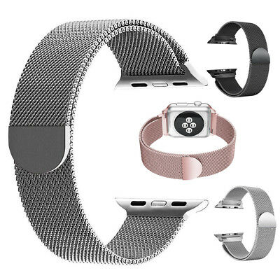 Milanese Loop Mesh Stainless Steel Magnetic Band Strap for Apple Watch 1/2/3/4