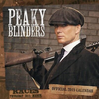 Brand New Official 2019 Square Wall Calendar - Peaky Blinders TV Series