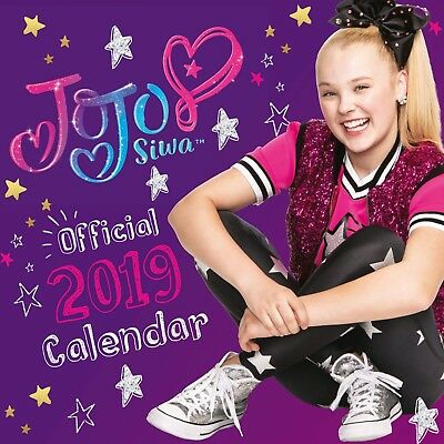 Brand New Official 2019 Square Wall Calendar - Jojo Siwa YouTube Vlogger