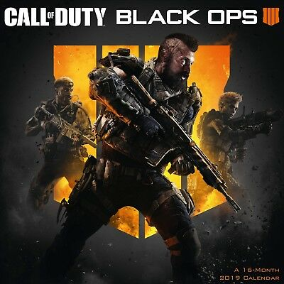 Brand new official 2019 Square Wall Calendar - Call Of Duty Black Ops Game