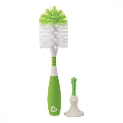 Munchkin Deluxe Bottle and Teat Brush Textured Easy-Grip Handle Assorted Color