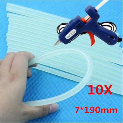 Wholesale 7mm Translucence Hot Melt Glue Adhesive Stick 19cm Fit for Glue Gun CN