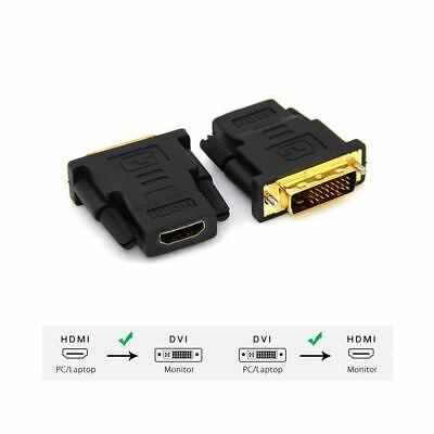DVI-D Male (24+1 pin) to HDMI Female Adapter Converter for 1080P HDTV Displayer