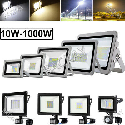 LED Floodlight 1000W 500W 300W 150W 100W 50W 20W 10W PIR Sensor Outdoor Lighting