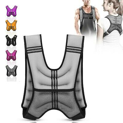 Weighted Vest 10kg Home Gym Running Fitness Weight loss Strength Jacket Durable