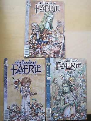 BOOKS of FAERIE : COMPLETE 3 ISSUE SERIES by CARLTON & GROSS. DC VERTIGO. 1997